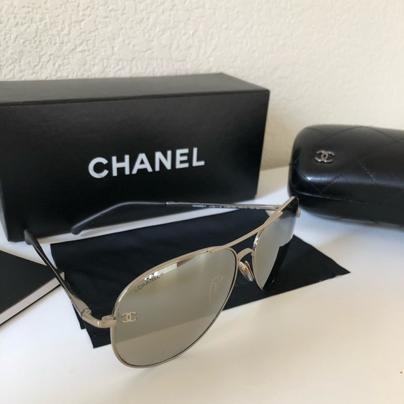 7090fff17c16 CHANEL Accessories - Chanel Mirror Aviator Sunglasses